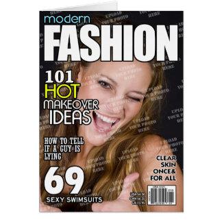 Cartão Capa de revista personalizada forma