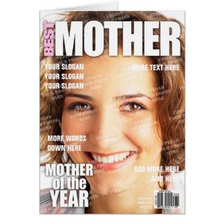 Cartão Capa de revista personalizada mãe