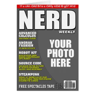 Cartão Capa de revista personalizada nerd