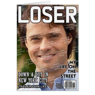 Cartão Capa de revista personalizada vencido