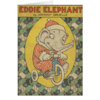 Cartão Capa do livro do elefante de Eddie (vazio para