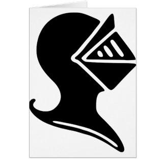 Cartão Capacete do cavaleiro