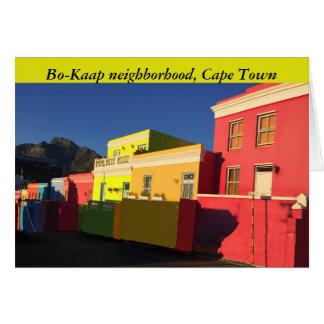 Cartão Cape Town, África do Sul, BO-Kaap, rua de Wale,