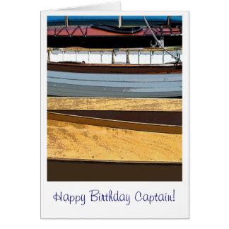 Cartão Capitão do feliz aniversario!