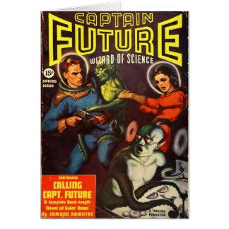Cartão Capitão Futuro e Doom. solar