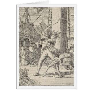Cartão Capitão Gancho do pirata
