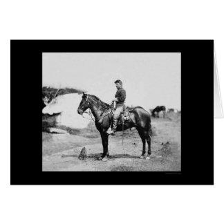 Cartão Capitão Howard a cavalo em Falmouth 1863