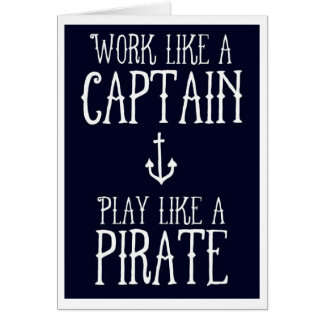 Cartão - capitão/pirata