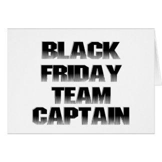 Cartão Capitão preto da equipe de sexta-feira