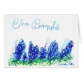 Cartão Capotas azuis