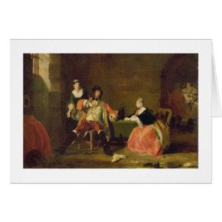 Cartão Captain Macheath Corromper por Polly e por Lucy no