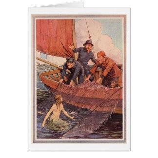 Cartão Captura da sereia do dia