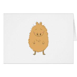 Cartão Capybara de pensamento