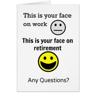 Cartão Cara da aposentadoria