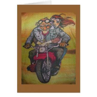 Cartão cara da motocicleta
