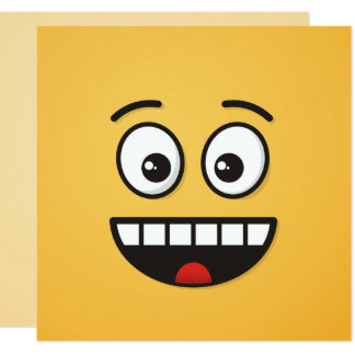Cartão Cara de sorriso com boca aberta
