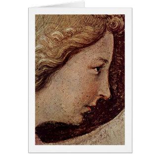 Cartão Cara do anjo do aviso por Fra Angelico