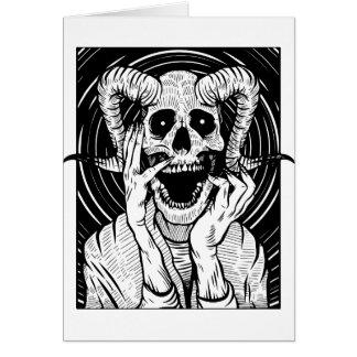 Cartão cara do diabo