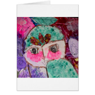 Cartão Cara do drama dos desenhos animados