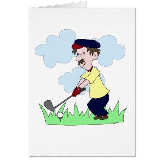 Cartão Cara do jogador de golfe