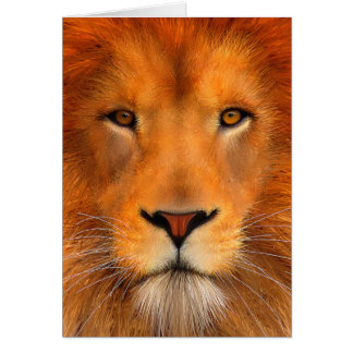 Cartão Cara do leão de Simha
