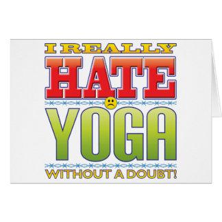 Cartão Cara do ódio da ioga