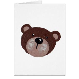 Cartão Cara do urso