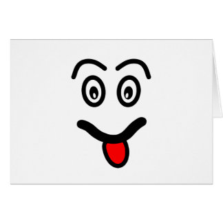 Cartão Cara engraçada