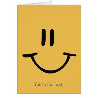 Cartão Cara feliz