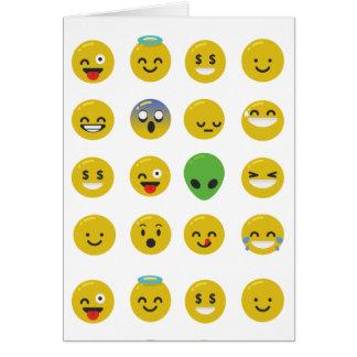 Cartão Cara feliz de Emoji