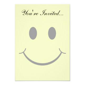 Cartão Cara feliz do smiley amarelo clássico dos anos 70