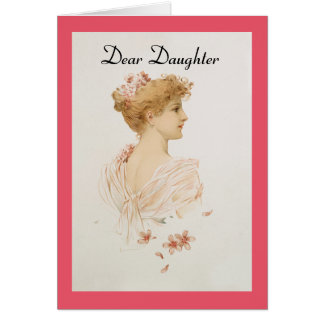Cartão Cara filha do vintage