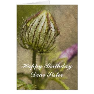 Cartão Cara irmã do feliz aniversario
