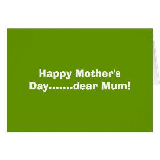 Cartão Cara mãe feliz do dia das mães .......!