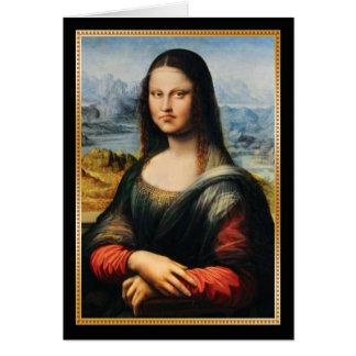 Cartão Cara mal-humorada de da Vinci Mona Lisa
