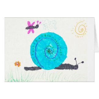 "Cartão ""Caracol de terra espiral """
