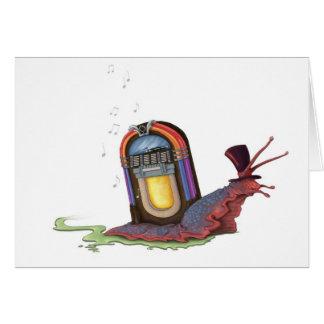 Cartão Caracol do jukebox
