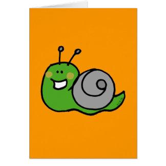 Cartão Caracol verde