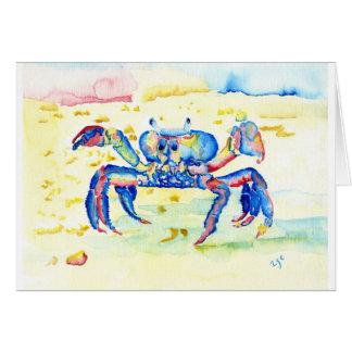 Cartão Caranguejo azul