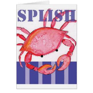 Cartão Caranguejo de Splish