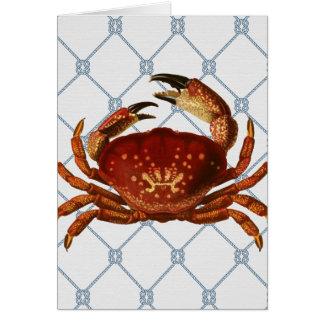 Cartão Caranguejo náutico