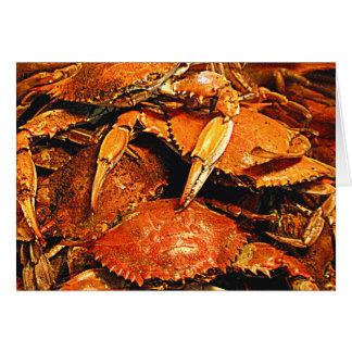 Cartão Caranguejos cozinhados do duro de Maryland
