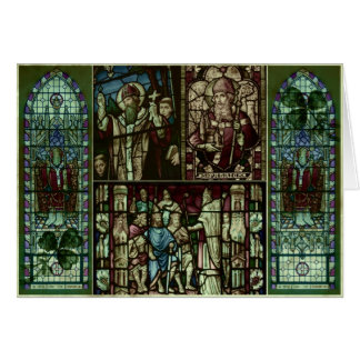 Cartão Caras do santo Patrick
