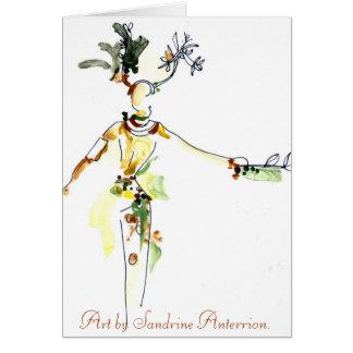 Cartão Caráter da samba por Sandrine Anterrion