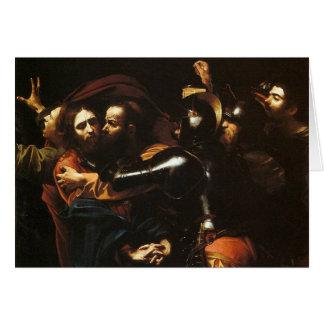 Cartão Caravaggio - tomada do cristo - trabalhos de arte