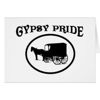 Cartão Caravana preta & branca do orgulho aciganado