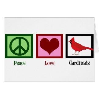 Cartão Cardeais do amor da paz