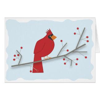 Cartão Cardeal do feriado