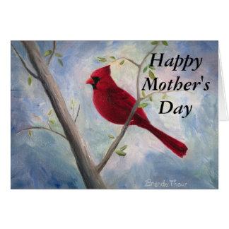 cartão cardinal do dia das mães