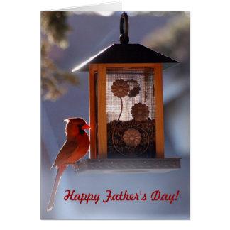 Cartão cardinal vermelho do dia dos pais